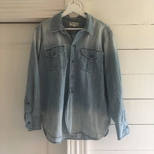 Madewell Chambray button down size Large denim